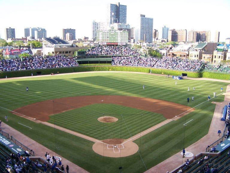 Lawn Mowing Patterns at Wrigley Field